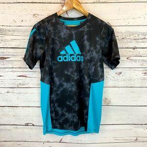 Adidas Climacool T Shirt Teal Aqua Black Smoke